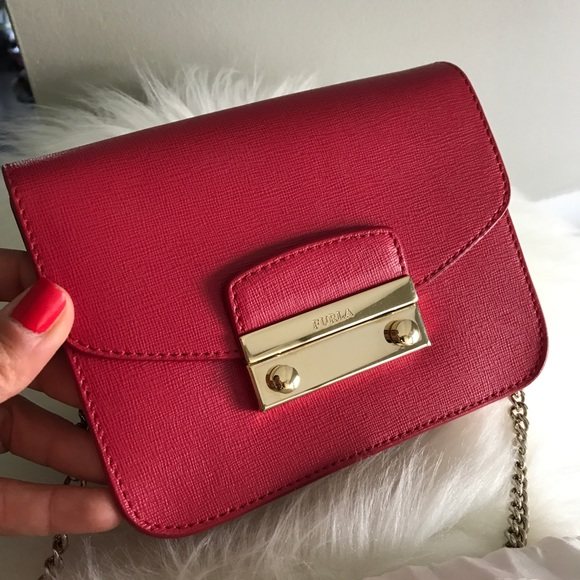 70a59e41da1cb Furla Handbags - Authentic FURLA Julia Mini crossbody Ruby Red.